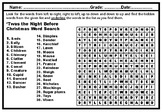 'Twas the Night Before Christmas, Literature WordSearch Pu