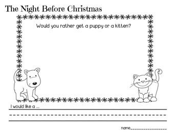 'Twas the Night Before Christmas with Daily Writing Prompts for all of December