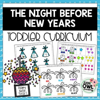 """Twas the Night Before New Year's"" Toddler Curriculum"