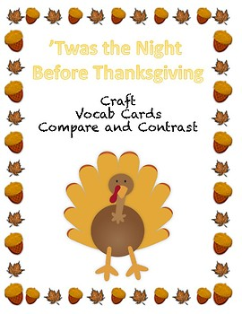 'Twas the Night Before Thanksgiving Activity