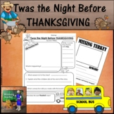 'Twas the Night Before Thanksgiving Activity Sheets