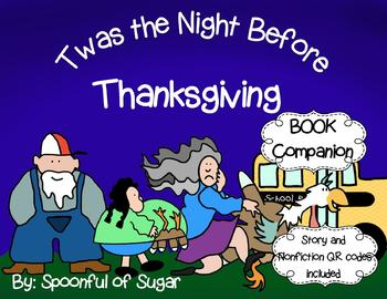 'Twas the Night Before Thanksgiving (Story Companion with Nonfiction activities)
