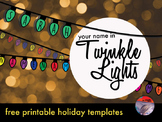 """Twinkle Lights""  Holiday Art Activity - FREE!"