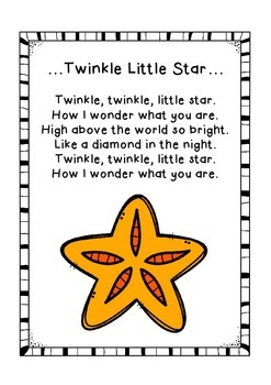 { Twinkle Twinkle Little Star }