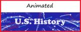 Animated Google Classroom Headers (U.S. History) - Distanc