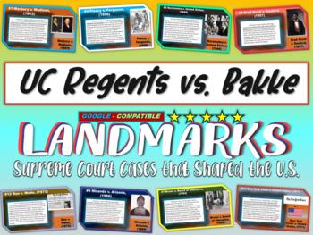 -UC Regents v. Bakke- Landmark Supreme Court Case (PPT, handouts & more)