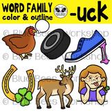 """""""UCK"""" Word Family Clip Art"""