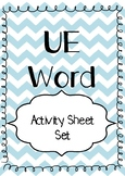 'UE' Words Matching Activity Sheet
