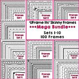 'UFrame Its' Mega Bundle Skinny Worksheet Frames Borders Clip Art CU OK
