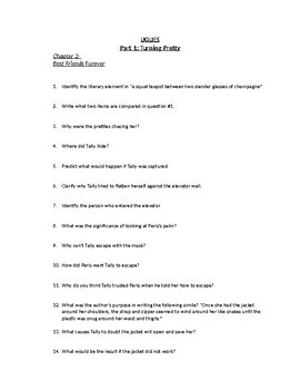 """""""UGLIES"""" DIFFICULT SHORT ANSWER CHAPTER QUESTIONS"""