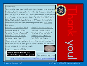 *ULTIMATE PRESIDENTIAL BUNDLE* Who Was? - All of 'em!!+ - US Presidents