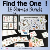 Find the one ! 16 sets to play and work on vocabulary ULTRA BUNDLE