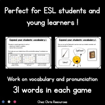 Find the one ! 16 sets to play and work on vocabulary