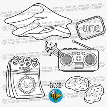 """-UNE"" Word Families Clip Art | Magic E Clipart"