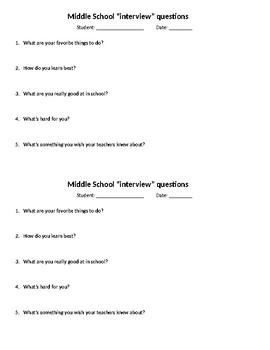 ***UPDATED***** Brief Child Interview Form
