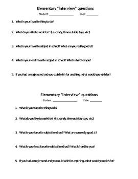 Updated Brief Child Interview Form
