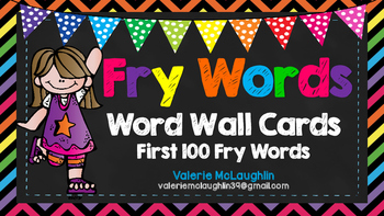 **UPDATED** FRY WORDS ~FREEBIE~ FIRST 100 WORDS