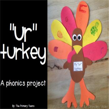 """UR"" Word Work Craftivity - A Phonics Project"