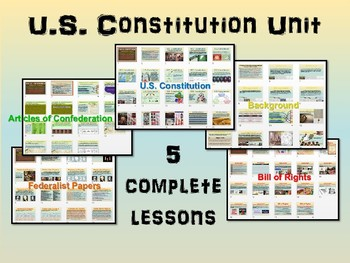 * U.S. Constitution UNIT (ALL 5 parts) highly visual, interactive 80-slide PPT