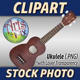 """""""Ukulele"""" Clipart Stock Photo of a Ukulele Acoustic Guitar"""