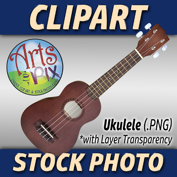 """Ukulele"" Clipart Stock Photo of a Ukulele Acoustic Guitar"