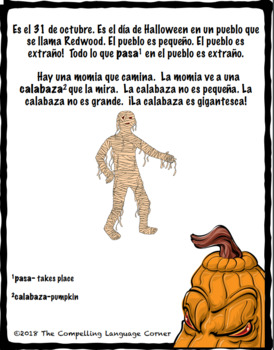 """Un Halloween extraño""- Printable Spanish storybook"