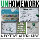 Homework Alternative | Back to School | Homework Menu to Use All Year