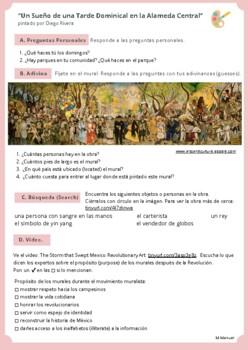 """""""Un Sueño de una Tarde Dominical en la Alameda Central"""" por Diego Rivera"""