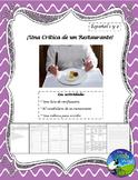 La Comida - ¡Una Crítica de un Restaurante! - Food Critique Restaurant Review