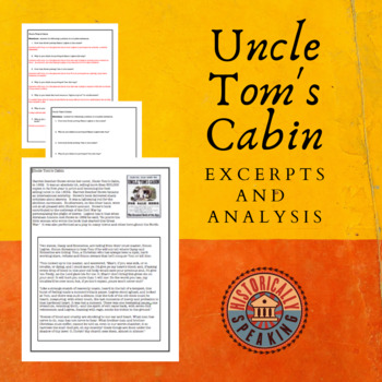 """""""Uncle Tom's Cabin"""":  Excerpt and Analysis"""
