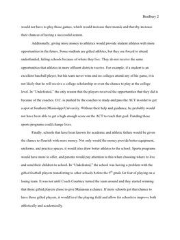 """Undefeated"" Documentary Argumentative Essay"