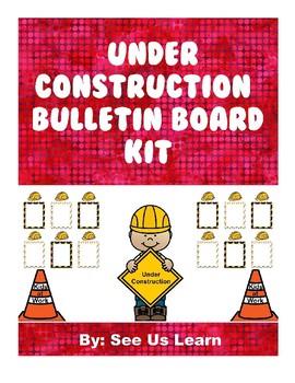 """Under Construction"" Bulletin Board Kit"