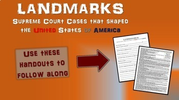 -United States v. Nixon- Landmark Supreme Court Case (PPT, handouts & more)