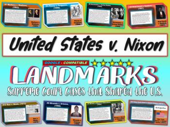 -United States v. Nixon- Landmark Supreme Court Case (PPT,