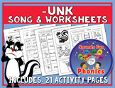 Unk Worksheets and Song   -unk Words    NO PREP - HeidiSongs