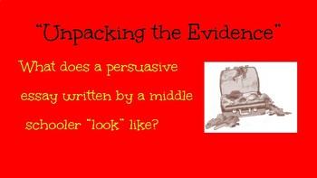 """""""Unpacking"""" Evidence Slideshow"""