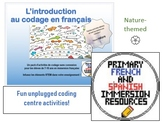 [Unplugged Coding in French] Primary French Immersion Coding Activities: Nature
