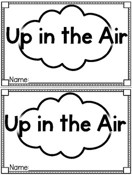 """""""Up in the Air"""" (Transportation Emergent Reader and Activity Dollar Deal)"""