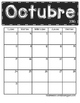 *Updated* 2016 - 2017 Chalkboard Calendars (Spanish Version)