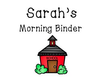 *Updated* Horizontal/Landscape Editable Morning Binder