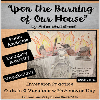 upon the burning of our house analysis
