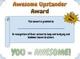 """""""Upstander"""" award for a bully-proof classroom"""