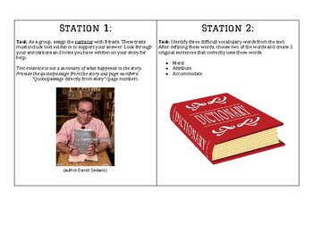 """Us and Them"" by David Sedaris Literary Stations"