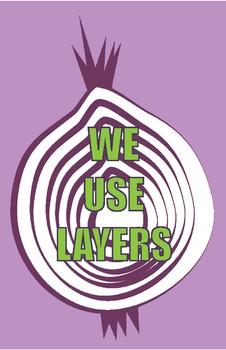 """Use Your Layers"" digital design poster bundle"