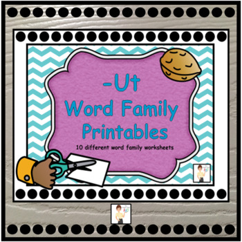 -Ut Word Family Printable Worksheets