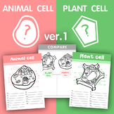 [V.1] Plant VS Animal cell structure - Fill in the blank/Compare the differences