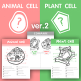 [V.2] Plant VS Animal cell structure - Fill in all the missing letters / Compare