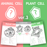 [V.3] Plant VS Animal cell structure - Fill in some missing letters / Compare