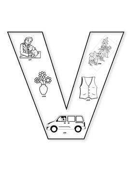 """V"" Coloring Sheet"