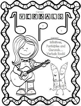 Verbals Grammar Practice: Participles, Gerunds, Infinitives - Color By Code!
